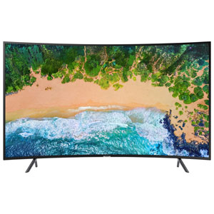 "Samsung NU7300 55"" 4K UHD HDR LED Curved Tizen Smart TV (UN55NU7300FXZC)"