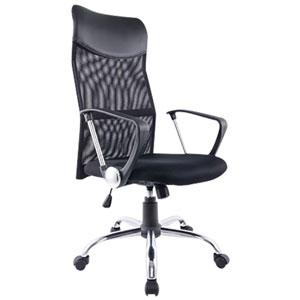 Brassex Lucca High-Back Vinyl Executive Chair - Black