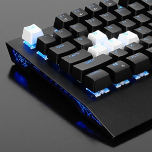 Backlit Clear WASD Keycaps Compatible with Mechanical Switches Keycap Puller Dust Brush and Microfiber Cloth ENHANCE Doubleshot PBT Keycaps Set Gaming Upgrade Kit Blue