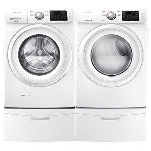 Samsung 4.8 Cu. Ft. Front Load Washer & 7.5 Cu.Ft. Electric Dryer - White