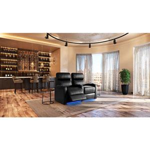 Fauteuils inclinables électriques cuir de surface à 2 sièges pour cinéma maison Diesel XS950 - Noir