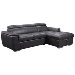 Ens. modulaire contemporain 2 pièces Modano avec divan et fauteuil orienté droit - Gris