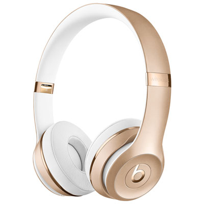 Beats by Dr. Dre Solo3 On-Ear Sound Isolating Bluetooth Headphones - Gold