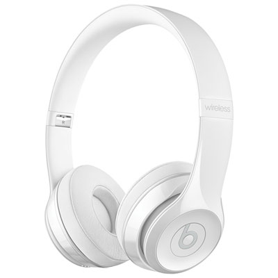 Beats by Dr. Dre Solo3 On-Ear Sound Isolating Bluetooth Headphones - Gloss White