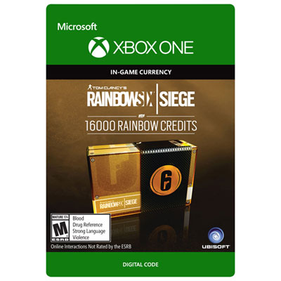 Tom Clancys Rainbow Six Siege Currency Pack - 16000 Rainbow Credits Xbox One - Digital Download
