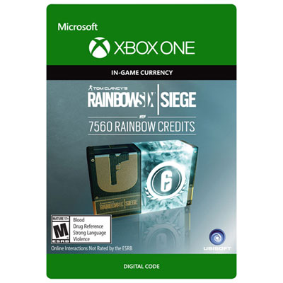 Tom Clancys Rainbow Six Siege Currency Pack - 7560 Rainbow Creditis Xbox One - Digital Download