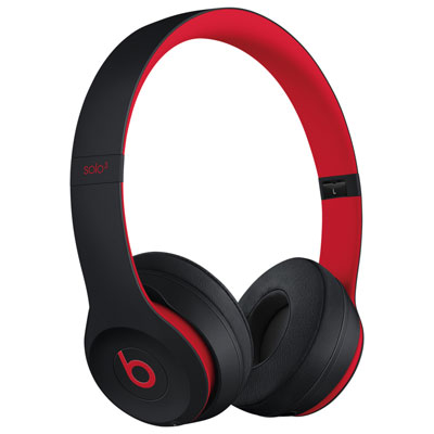 Beats By Dr. Dre Solo3 On-Ear Sound Isolating Bluetooth Headphones - Black/Red