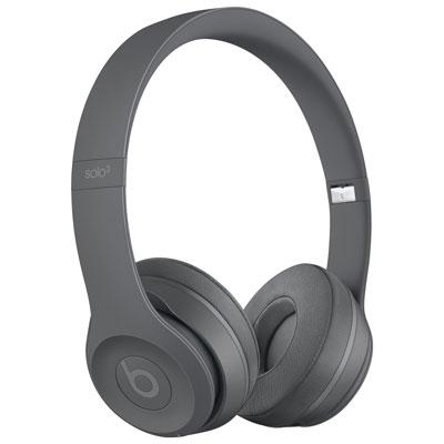 Beats by Dr. Dre Solo3 On-Ear Sound Isolating Bluetooth Headphones - Asphalt Grey
