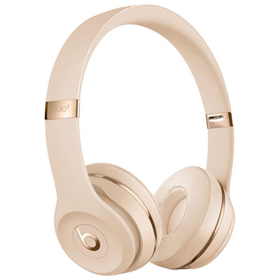 Beats by Dr. Dre Solo3 On-Ear Sound Isolating Bluetooth Headphones - Satin Gold
