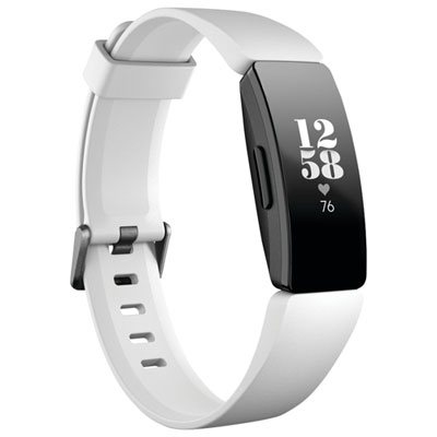Fitbit Inspire HR Fitness Tracker with Heart Rate Tracking - White