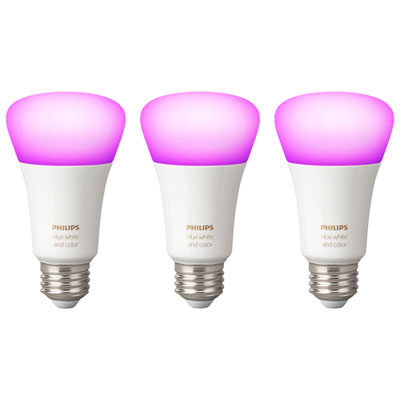 Philips Hue A19 Smart Bluetooth LED Light Bulbs - 3 Pack -...
