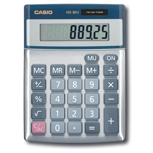 Casio 8-Digit Desktop Calculator (MS-80TE)
