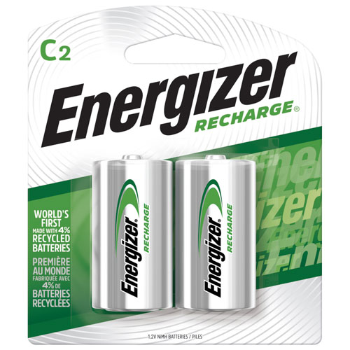 Energizer Th35bp 2 Quot C Quot Nimh 2 Pack Rechargeable Batteries