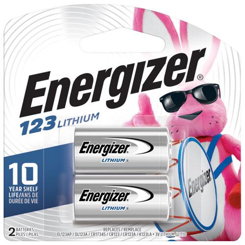 Paquet de 2 piles au lithium 3 V e2 EL123BP2 d'Energizer