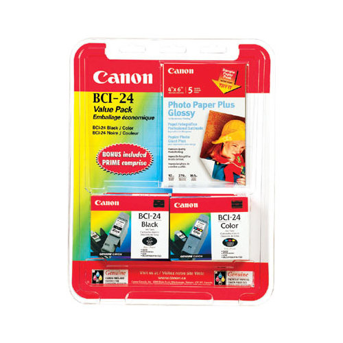 Canon BCI-24 Black/Colour Ink - 2 Pack
