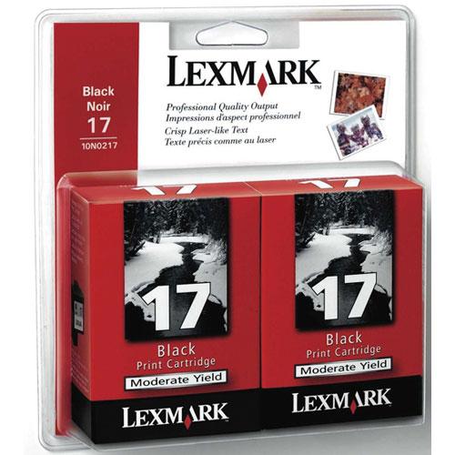 Lexmark 17 Black Ink - 2 Pack