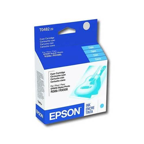 Cartouche d'encre cyan pour Stylus R300/RX500 d'Epson (T048220-S)