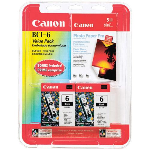 Cartouche d'encre noire BCI-6 de Canon - Paquet de 2