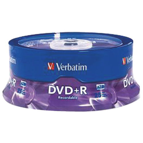 Verbatim 16X 4.7GB DVD+R - 25 Pack