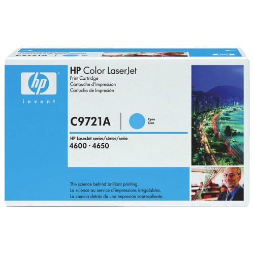 Cartouche de poudre d'encre cyan LaserJet de HP (C9721A)