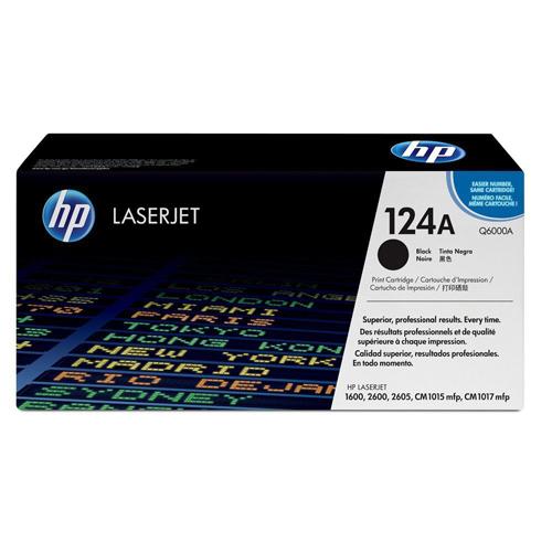 HP LaserJet 124A Black Toner (Q6000A)