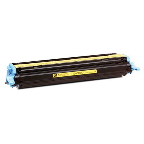 Cartouche de poudre d'encre jaune LaserJet 124A de HP (Q6002A)