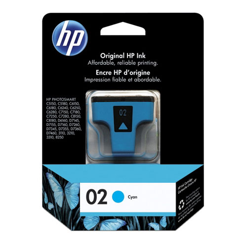HP 02 Cyan Ink (C8771WC)