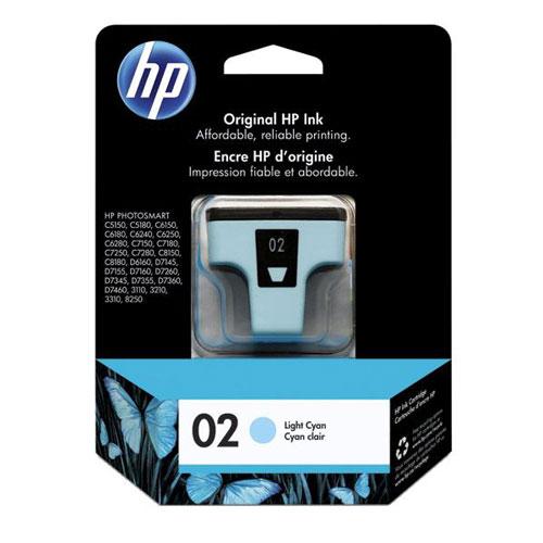 HP 02 Light Cyan Ink (C8774WC)