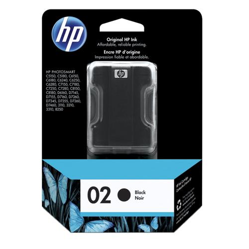 HP 02 Black Ink (C8721WC140)