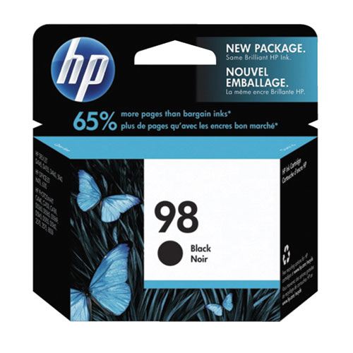 Cartouche d'encre noire 98 de HP (C9364WC140)