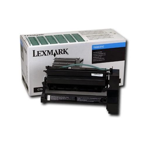Cartouche de poudre d'encre cyan de Lexmark (15G031C)