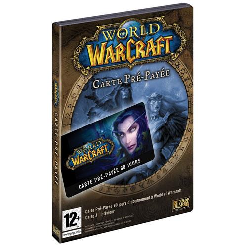 World Of Warcraft 60 Jours Carte Pré-Payée (PC) - French