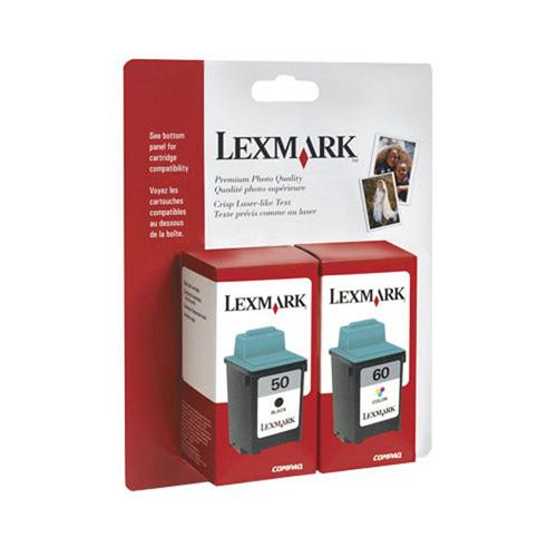 Cartouche d'encre noire/couleur 50/60 de Lexmark - Paquet de 2