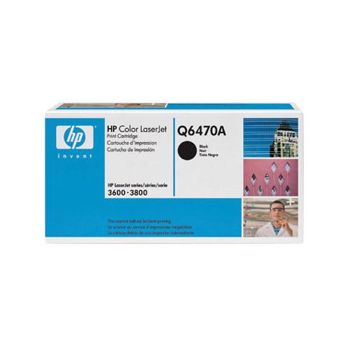 Cartouche de poudre d'encre noire LaserJet 501A de HP (Q6470A)