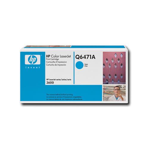 Cartouche de poudre d'encre cyan LaserJet 502A de HP (Q6471A)