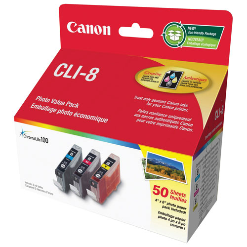 Canon CLI-8 Photo Value Pack (0621B014) - 3 Pack