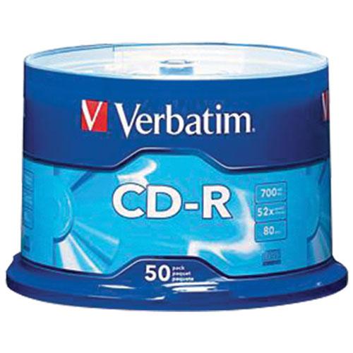 Verbatim 52X 700MB CD-R - 50 Pack
