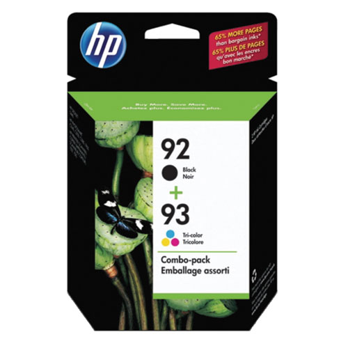 HP 92/93 Black/Tri-Colour Ink - 2 Pack