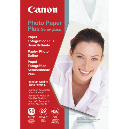 "Canon 4"" x 6"" Plus Semi-Gloss Photo Paper (SG-201) - 50 Sheets"