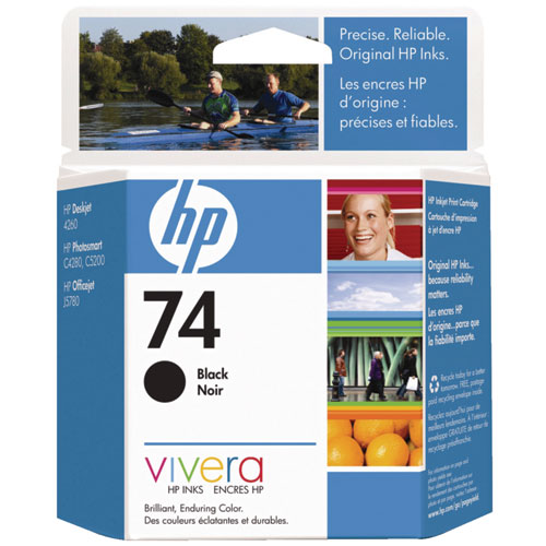 HP 74 Black Ink (CB335WC140)