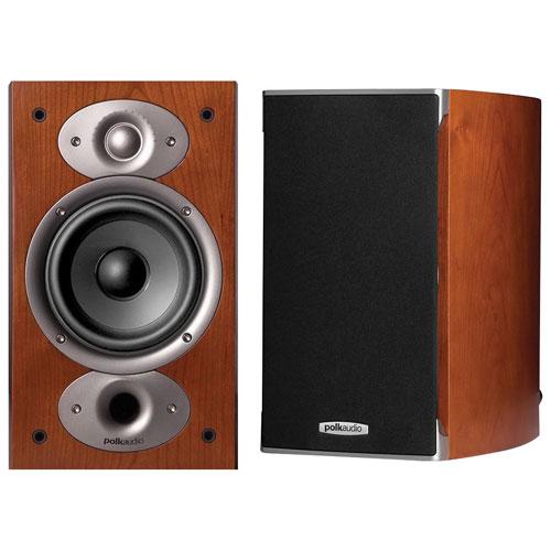 Polk Audio RTiA1 125-Watt High-Performance Bookshelf Speakers - Cherry - Pair