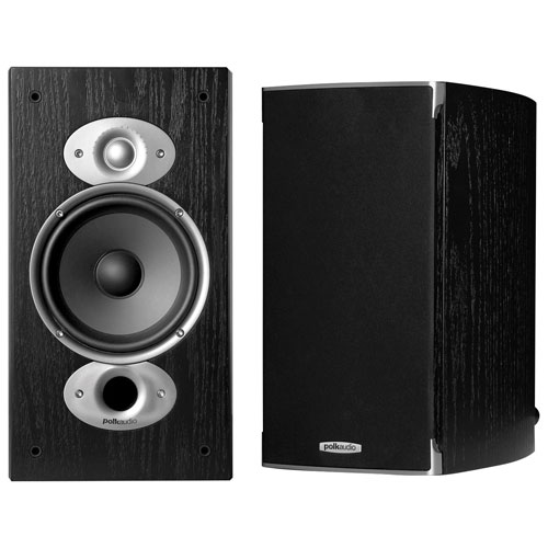 Polk Audio RTIA3 125-Watt Bookshelf Speakers - Black - Pair