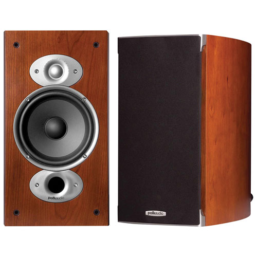 Polk Audio RTIA3 125-Watt Bookshelf Speakers - Cherry - Pair