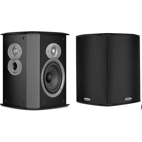 Polk Audio FXiA4 125-Watt Bookshelf/Rear Speakers - Black - Pair
