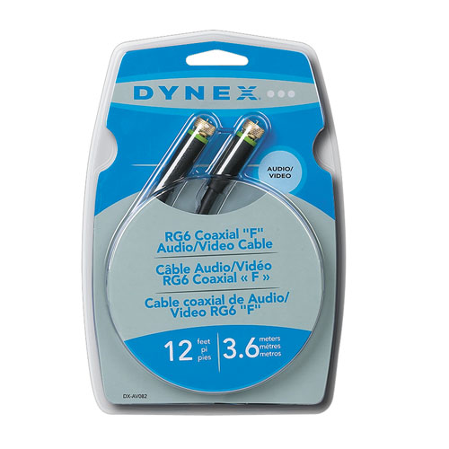 Dynex 3.7m (12 ft.) Coaxial F Cable (DX-AV082)