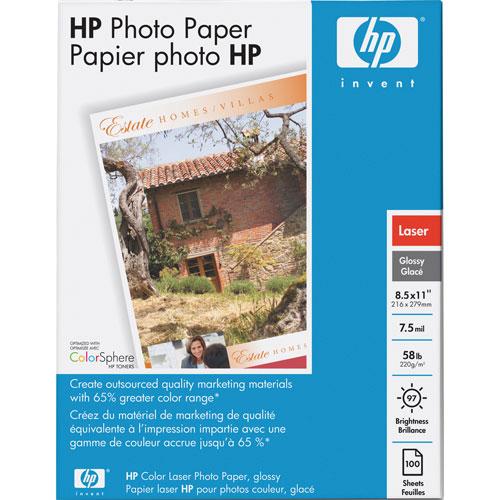 Papier photo laser glacé de HP, 100 feuilles de 8,5 x 11 po