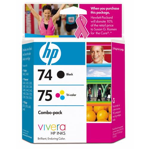 HP 74/75 Black/Tri-Colour Ink (CC659FC) - 2 Pack