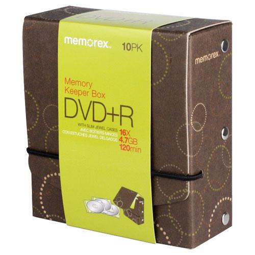 Boîte de 10 DVD+R Memory Keeper de Memorex