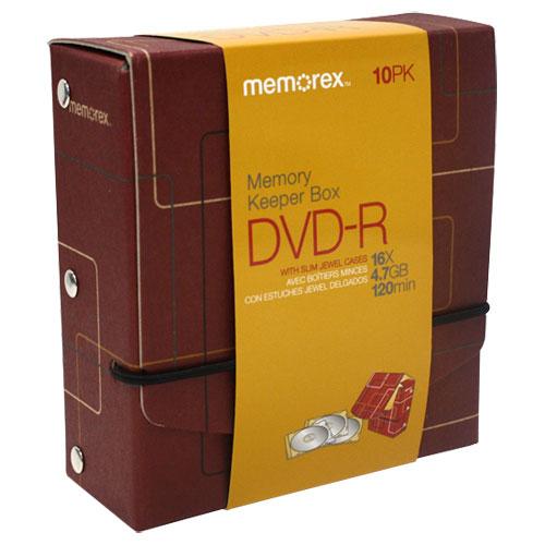 Boîte de 10 DVD-R Memory Keeper de Memorex