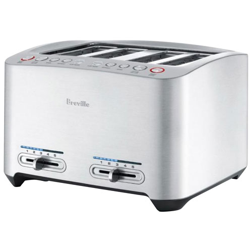 Breville Die Cast Smart Toaster 4 Slice Toasters Best Buy Canada